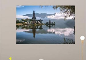 How to Mural Painting Wall Amazon Wallmonkeys Od Temple Bali Indonesia Wall Mural