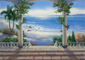 How to Paint A Beach Wall Mural Trompe L Oeil Wall Mural