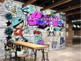 How to Paint A Brick Wall Mural Beibehang Custom Wallpaper Fashion Trend Street Art Graffiti Brick Cafe Bar Restaurant Painting Background Wall 3d Wallpaper