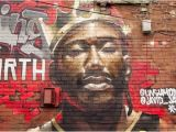 How to Paint A Brick Wall Mural Epic King the north Mural Pops Up In Regent Park to