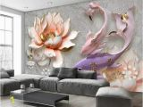 How to Paint A Floral Wall Mural Custom 3d Stereo Watercolor Flowers Rose Diamonds Wallpaper Background Wallpaper Mural Painting Dining Room Tv Mural Cell Phone Wallpapers