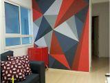 How to Paint A Geometric Wall Mural 60 Best Geometric Wall Art Paint Design Ideas 9