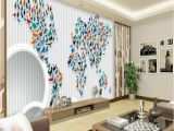 How to Paint A Large Wall Mural Us $16 5 Off Retro Personality Large World Map Mural Wallpaper 3d Painting Living Room Bedroom Wallpapers Backdrop Stereoscopic Wall Paper In