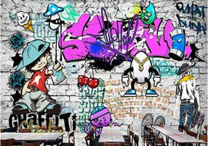 How to Paint A Mural On A Brick Wall Afashiony Custom 3d Wall Mural Wallpaper Fashion Street Art