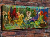 How to Paint A Mural On A Brick Wall Großhandel Spielplatz Karussell Leinwand Gemälde Wohnzimmer Wohnkultur Moderne Wandmalerei –lgemälde Von Wujia002 $8 85 Auf De Dhgate