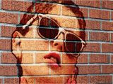 How to Paint A Mural On A Brick Wall Shop Tutorial How to Transform A Into A Brick Wall Portrait