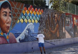 How to Paint A Mural On A Concrete Wall L A S Judith Baca Wins $50 000 Award Breaking Ground for