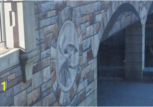 "How to Paint A Mural On A Concrete Wall the ""carvings"" are but An Allusion Cleverly Painted so to"
