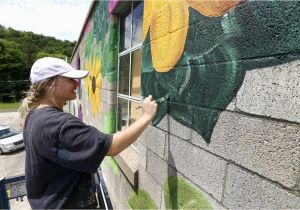 How to Paint A Mural On Cinder Block Wall Main Street Elkader S Art In the Alley