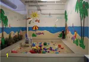 How to Paint A Mural On Cinder Block Wall This Was A Large Beach theme Room for A Local Preschool the