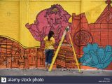How to Paint A Mural On My Wall Allahabad India 28th Oct 2018 A Cyclist Pass Near A Wall