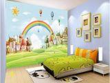 How to Paint A Rainbow Wall Mural 3d Sun Rainbow Grass 735