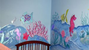 How to Paint A Rainbow Wall Mural Dorisann S Designs Rainbow Fish