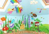 How to Paint A Rainbow Wall Mural Fairy Mural Murals