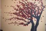 How to Paint A Tree Mural Burgundy and Navy Tree Mural Murals In 2019