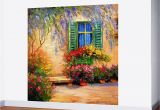 How to Paint A Wall Mural Step by Step Blooming Summer Patio Wall Mural