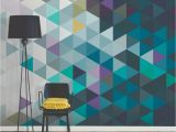 How to Paint A Wall Mural Tips Brewster Abstract Triangles Wall Mural Wr In 2019