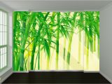 How to Paint A Wall Mural Tree Sehr Berühmt 3d Fresh Bamboo Leaves 667 Wall Paper Print