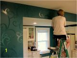 How to Paint A Wall Mural with A Projector Bud Kitchen Updates Accent Wall and Faux Painted