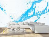 How to Paint A Wall Mural with Acrylics Blue Watercolor Background Acrylic Hand Painted Splash isolated On White Background Abstract Acrylic Paint Splatter Fashion and Beauty Indigo