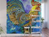 How to Paint A Wall Mural with Acrylics Crazy Chicken Wall Mural