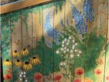 How to Paint A Wall Mural with Acrylics Garden Mural On Chicken Coop Free Hand Painting with