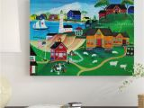 How to Paint A Wall Mural with Acrylics Sheep at Seaside School Acrylic Painting Print On Wrapped Canvas