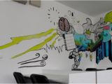 How to Paint A Wall Mural without A Projector Mitrovski Brno Book Line Coworker