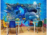 How to Paint An Ocean Mural On A Wall 3d Wallpaper Custom Wall Mural Wallpaper Underwater World Ocean 3d Stereo Wall Murals 3d Living Room Wall Decor Wallpaper High Definition