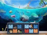 How to Paint An Ocean Mural On A Wall Underwater Wallpaper Underwater Wall Mural Underwater Wall