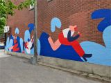 How to Paint An Outdoor Wall Mural Green Alley Mural by Cecile Gariepy