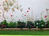 How to Paint An Outdoor Wall Mural Hand Painted Garden In 2019