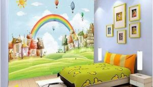 How to Paint Grass On A Wall Mural 3d Sun Rainbow Grass 735