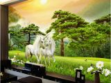 How to Paint Grass On A Wall Mural Custom Wallpaper 3d White Horse Nature Landscape Murals Wall Painting Living Room Tv Background Wall Paper Mural Wallpapers Desktop