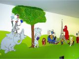 How to Paint Grass On A Wall Mural Storybook Characters Mural