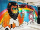 How to Paint Over A Wall Mural Was Great Painting My First Wall Mural In Japan You Can See