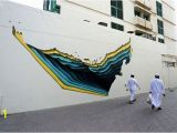 How to Project Mural On Wall Dubai Street Museum Project