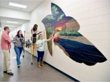 How to Project Mural On Wall Mural Support Williston Students Decorate Halls Of New High
