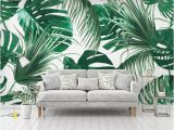 How to Remove A Wall Mural Beibehang Custom Wallpaper Mural 3d Modern Hand Painted Tropical Rainforest Banana Leaves Painting Wall Paper Home Decor Desktop Wallpapers Free