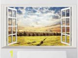 How to Remove A Wall Mural Tmy7001 Export Wall Sky Tea Garden Window to Remove Pvc Environmental Stickers Bedroom Living Room Decoration