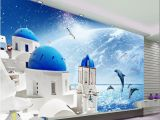 How to Transfer Mural On Wall 3d Room Wallpaper Custom Mural Love Sea Night Dolphin Gulls Picture Decor Painting 3d Wall Murals Wallpaper for Walls 3 D I Wallpaper Hd I