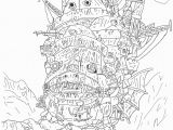 Howl S Moving Castle Coloring Pages Growth Howl S Moving Castle Coloring Pages Drawing Clipartxtras