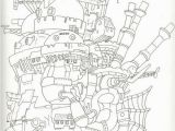 Howl S Moving Castle Coloring Pages Howl S Moving Castle Coloring Book