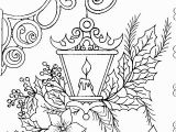 Http Www Crayola Com Free Coloring Pages T T Candle Inside Lamp Holly Mistletoe and Flowers