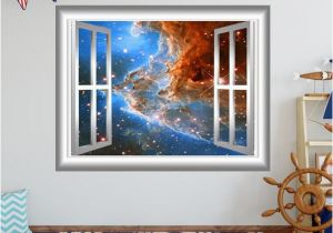 Hubble Deep Field Wall Mural Space Nebula Wall Decal 3d Window Wall Sticker Window Frame Outer Space Sticker Gj92