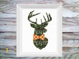 "Hunting Camo Wall Murals Camouflage Buck Head with Hunting orange Bow Tie 8"" X 10"