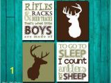 Hunting Camo Wall Murals Hunting Nursery Wall Art Rifles Racks & Deer Tracks by