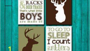 Hunting Camo Wall Murals Hunting Nursery Wall Art Rifles Racks & Deer Tracks by