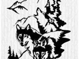 Hunting Wall Murals Wolves Wolf Moon Pack Man Cave Animal Rustic Cabin Lodge Mountains
