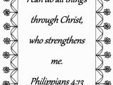 I Can Do All Things Coloring Page I Can Do All Things Philippians 4 13 Bible Verse